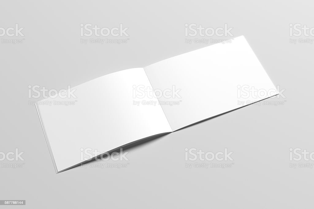A4 Landscape Catalog / Magazine Mock-Up - Saddle Stitch. Illustration stock photo