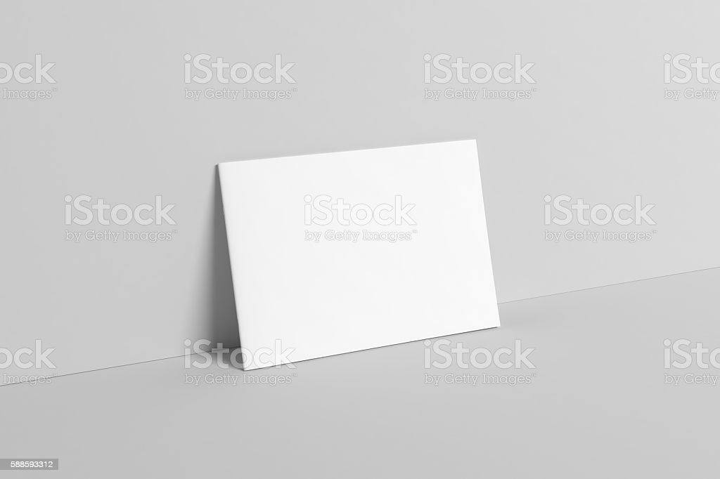 A4 Landscape Catalog / Magazine Mock-Up - Wall - Illustration stock photo