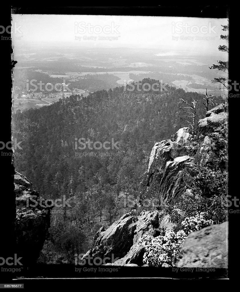 Landscape, Circa 1890 stock photo