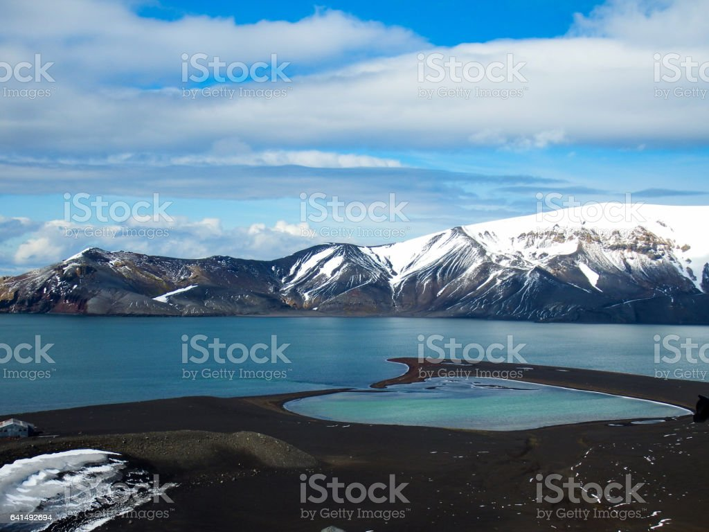 Landscape Deception Island stock photo