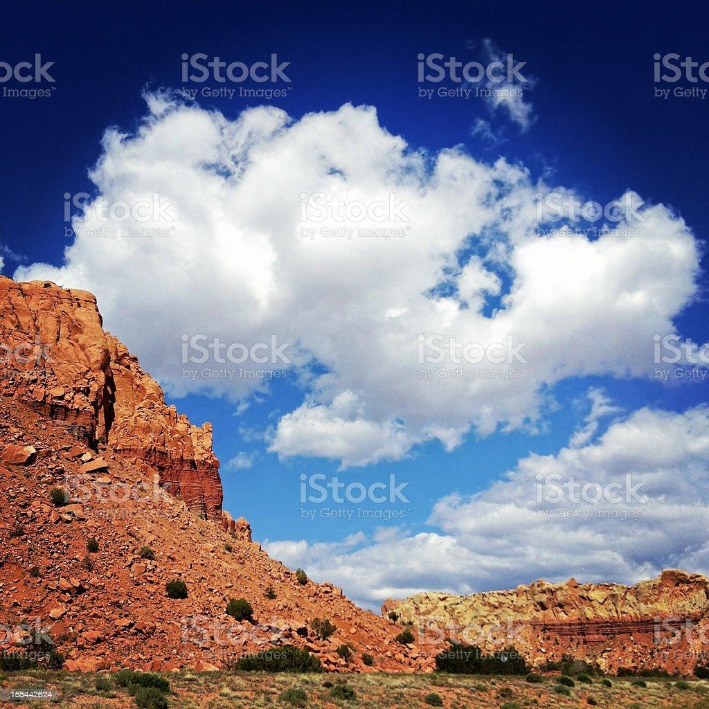 landscape desert badlands sky stock photo