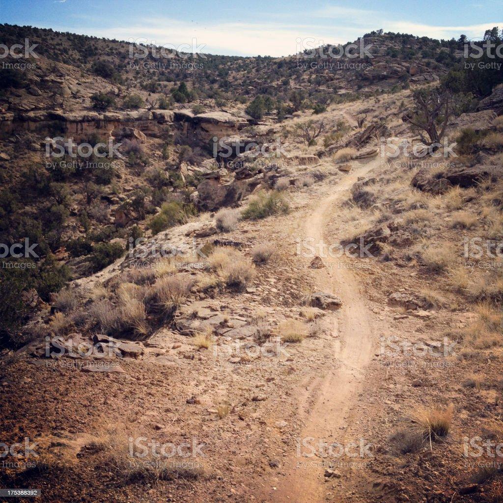 landscape desert recreational trail stock photo