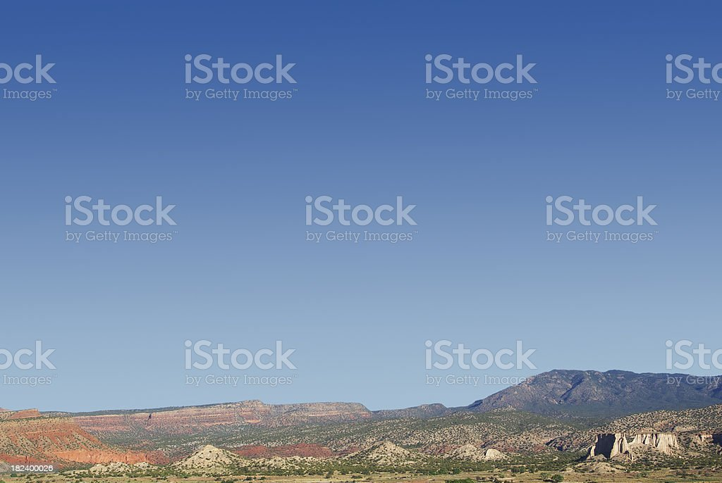 landscape desert sandstone mesa mountains stock photo