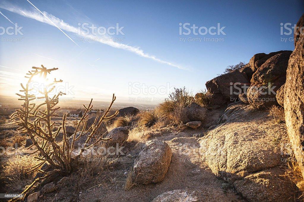 landscape desert sunshine stock photo