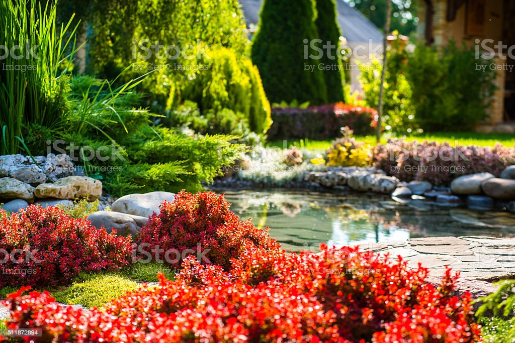 landscape design stock photo