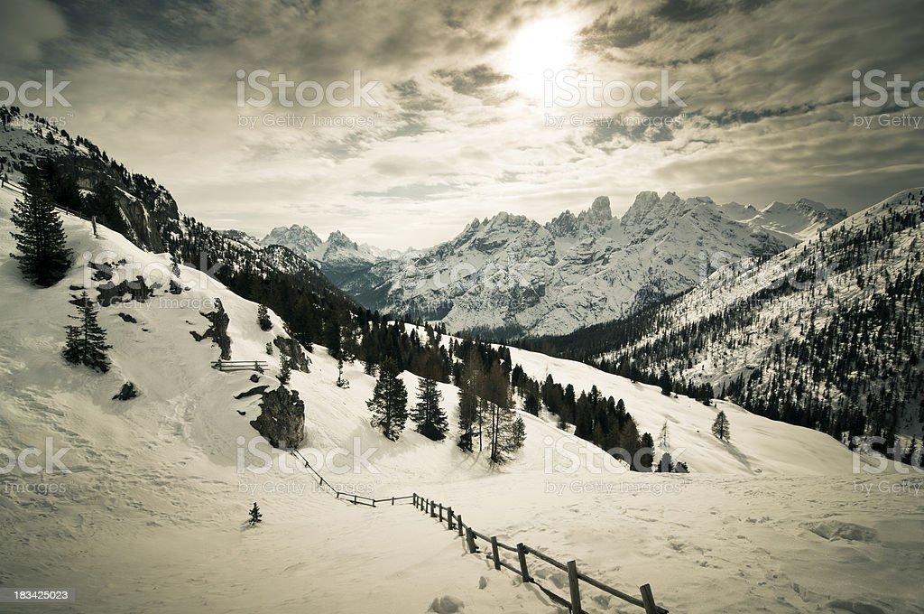 Landscape, Dolomites, Italian Alps royalty-free stock photo