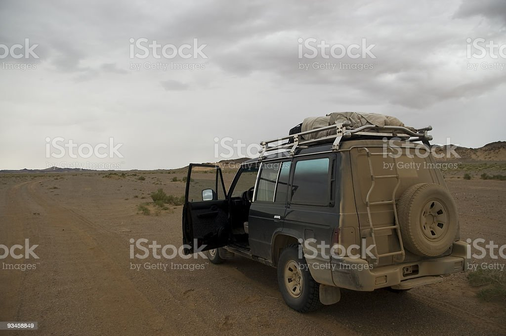 landscape for a sports utility vehicle stock photo