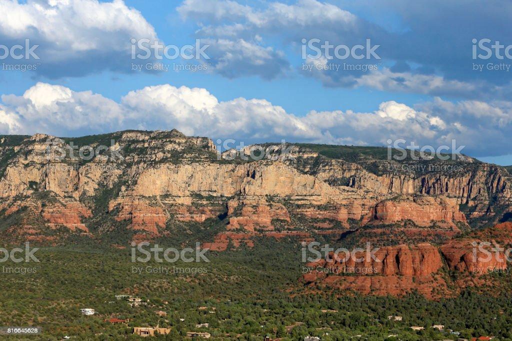 Landscape from Airport Mesa,  Sedona stock photo