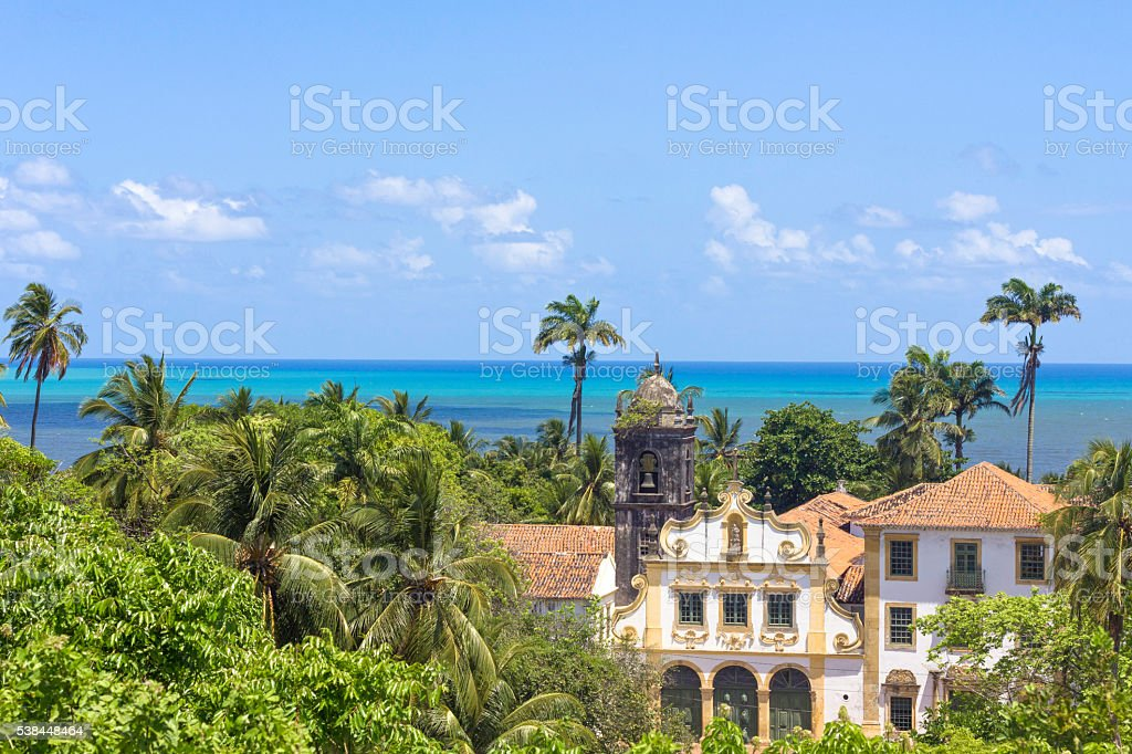 Landscape from ancient buildings in Olida, Recife Brazil stock photo