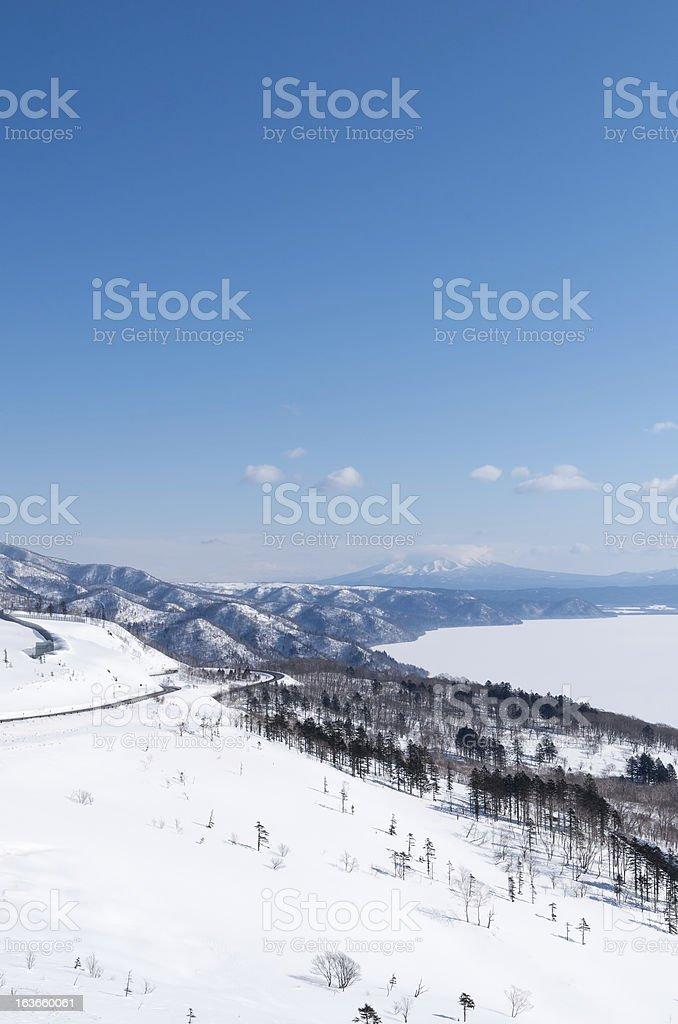 Landscape from Bihoro mountain pass royalty-free stock photo