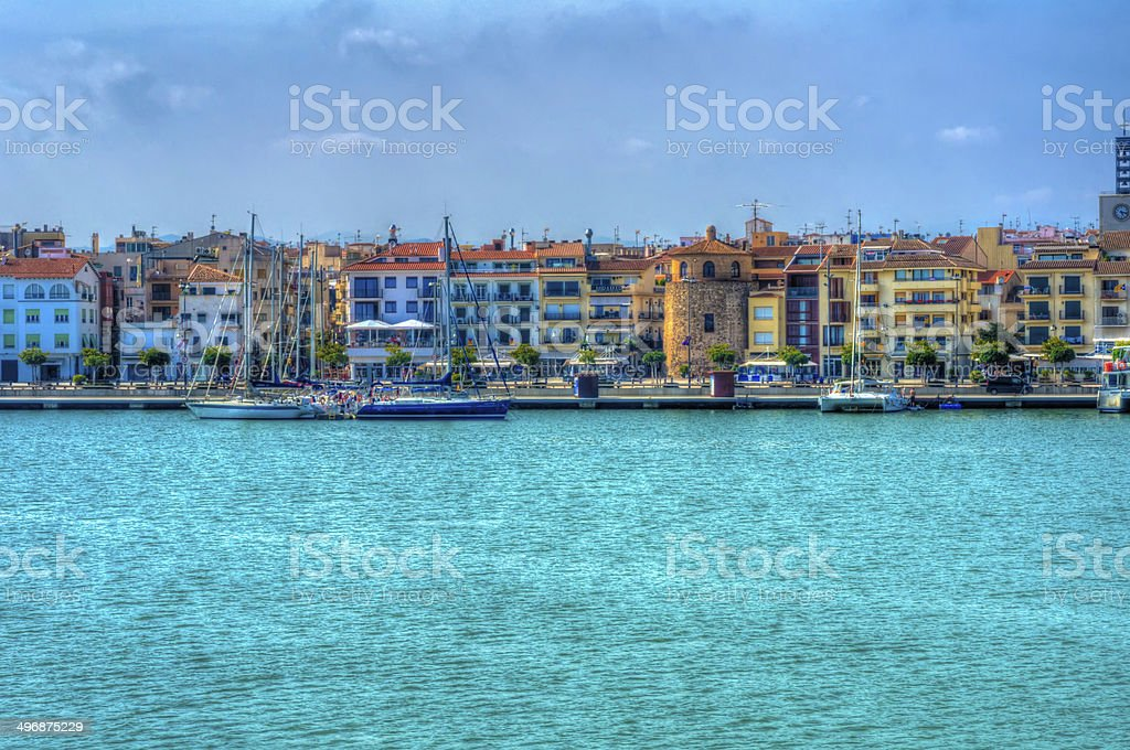 Landscape from Cambrils , Spain stock photo