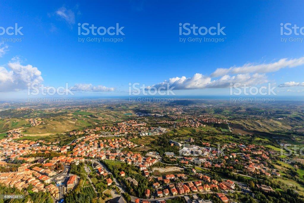 Landscape from City of San Marino stock photo