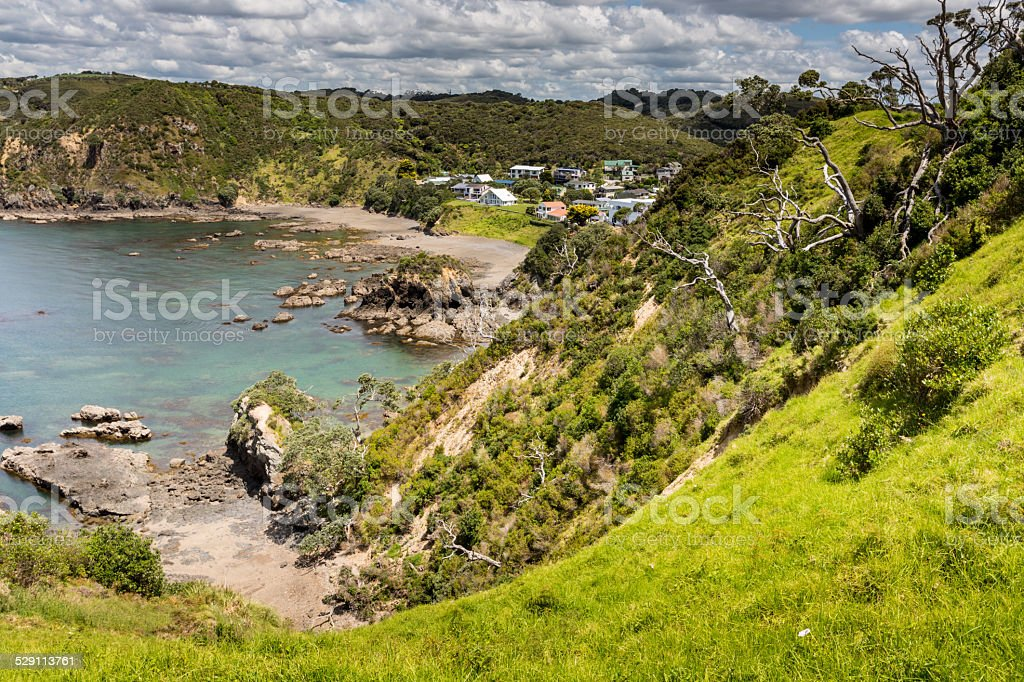 Landscape from Russell near Paihia, Bay of Islands, New Zealand stock photo