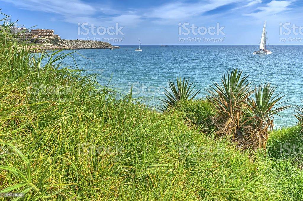 Landscape from Salou stock photo