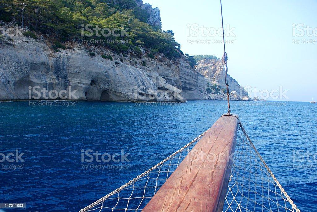 Landschaft von Schiff Schiffsmast Lizenzfreies stock-foto