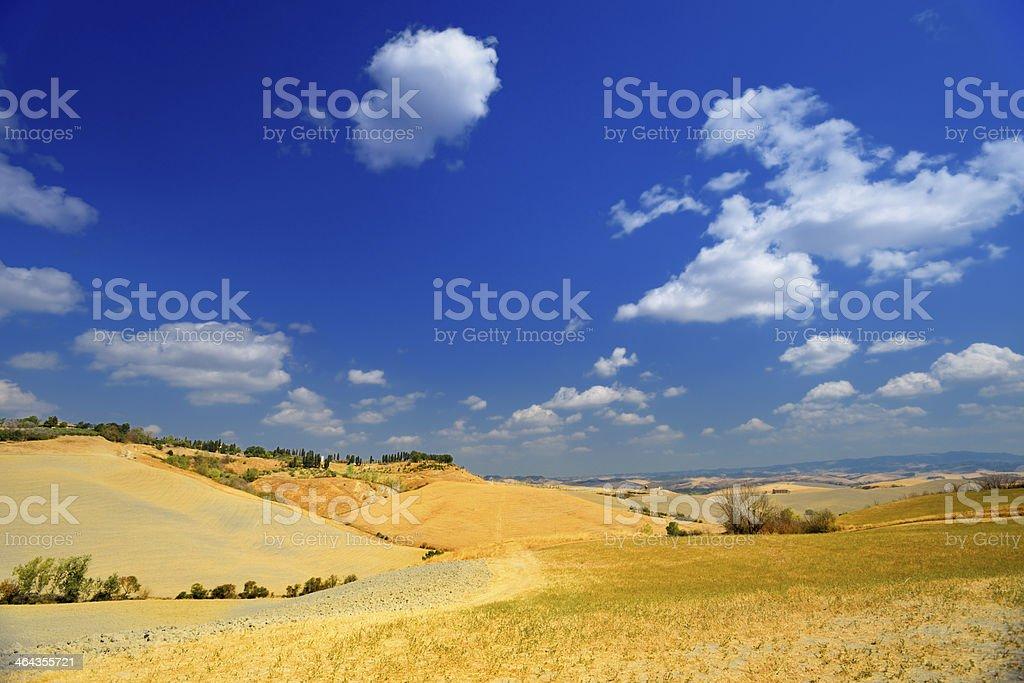 Landscape from Tuscany stock photo