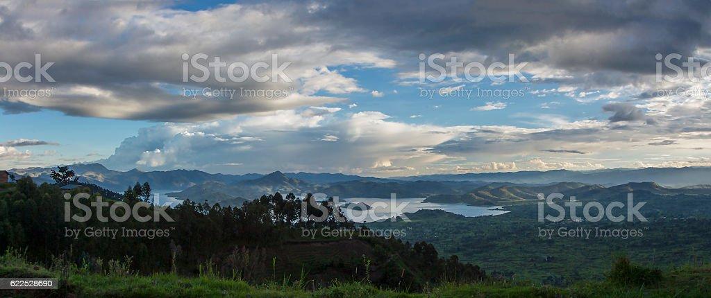 Landscape from Virunga National Park stock photo