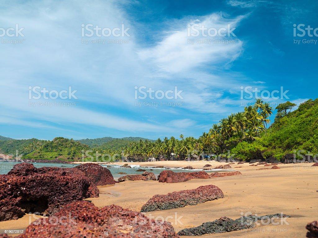 landscape goa stock photo