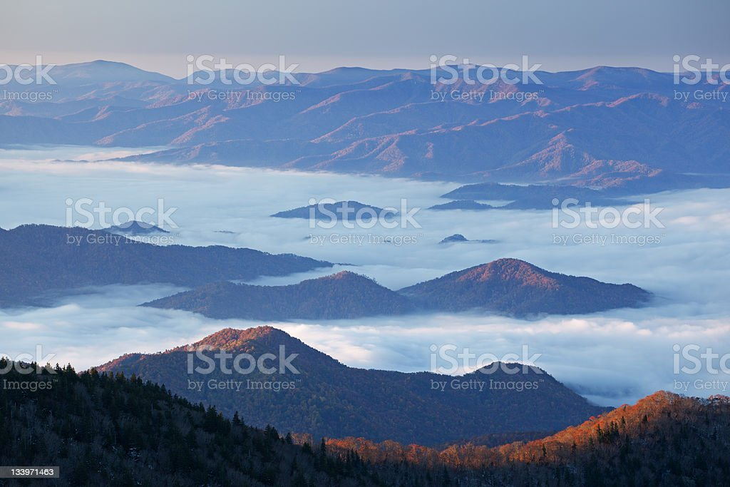 Landscape, Great Smoky Mountains in Fog royalty-free stock photo