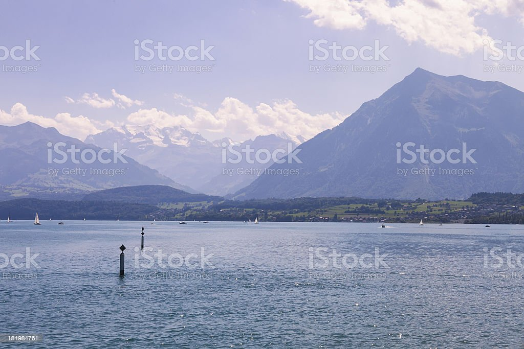 Landscape image of the Swiss alps stock photo