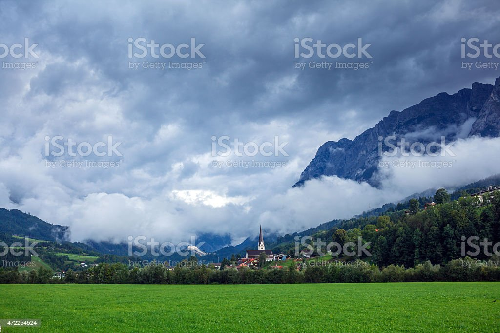 Landscape in Alps stock photo
