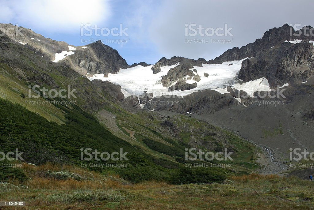 Landscape in Argentina stock photo