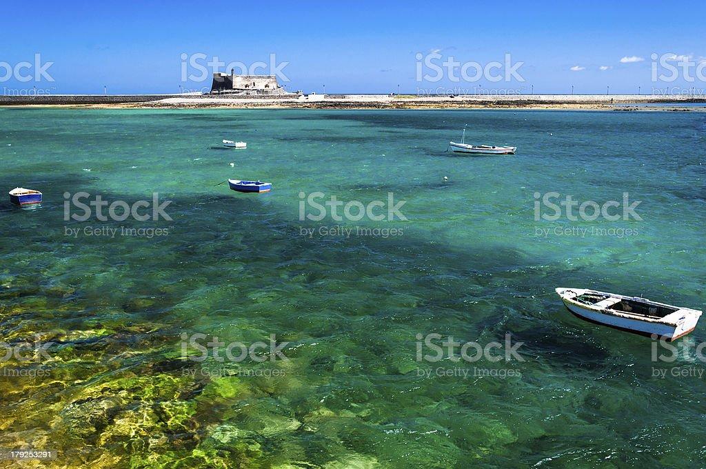 Landscape in Arrecife, Canary Islands stock photo
