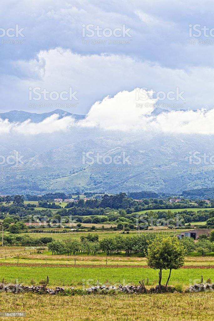 Landscape in Asturias. stock photo