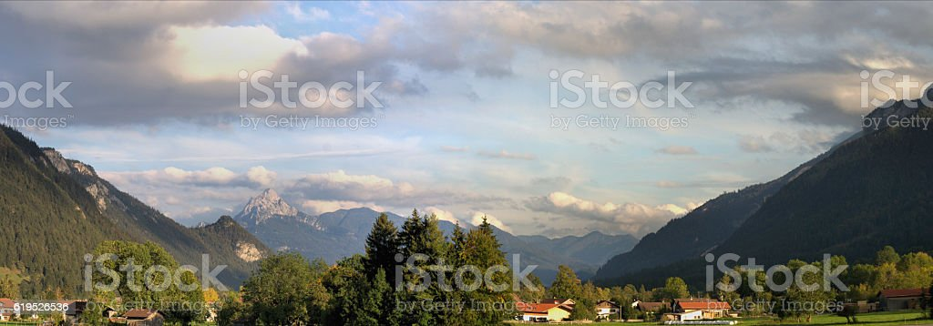 Landscape in Bavaria, Germany stock photo