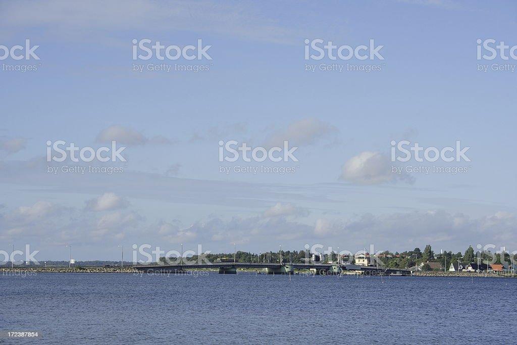 Landscape in blue stock photo
