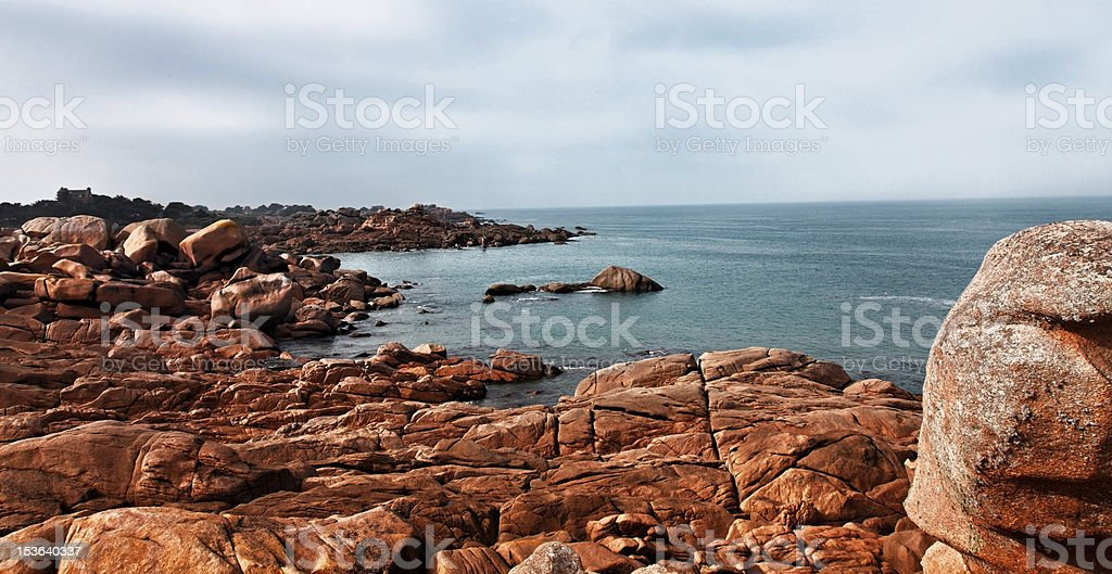Landscape in Brittany stock photo