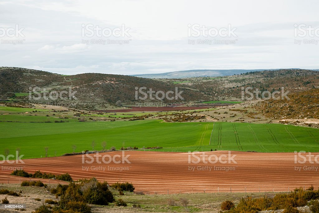 Landscape in Cevennes national park stock photo