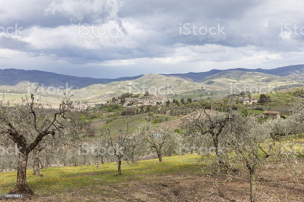 Landscape in Chianti, Tuscany, Italy royalty-free stock photo