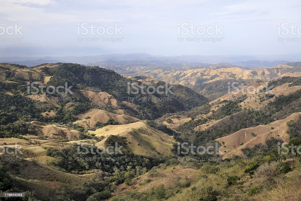 Landscape in Costa Rica stock photo