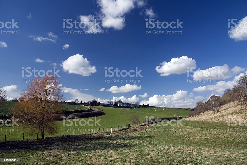 Landscape in Cotswold. England royalty-free stock photo