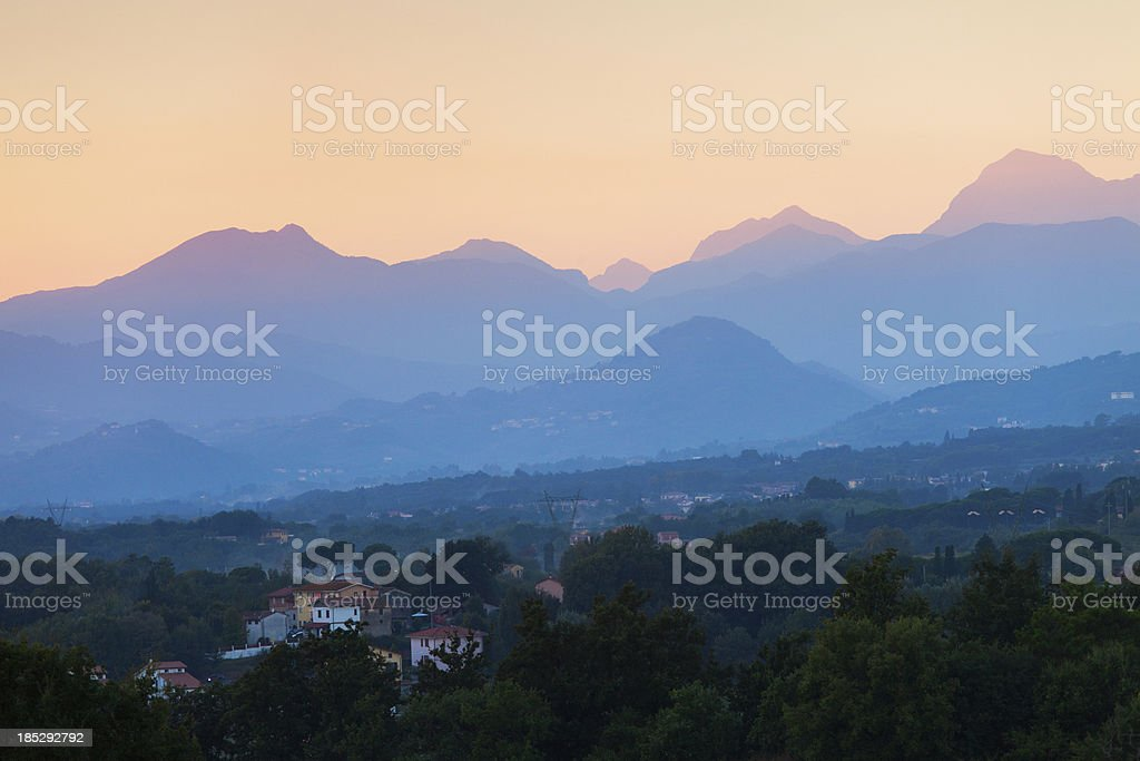 Landscape in Country side of Toscany, Italy royalty-free stock photo