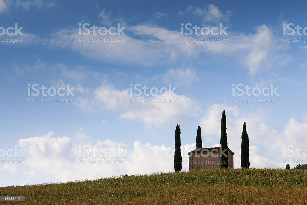 Landscape in Country side of Toscany, Italy stock photo