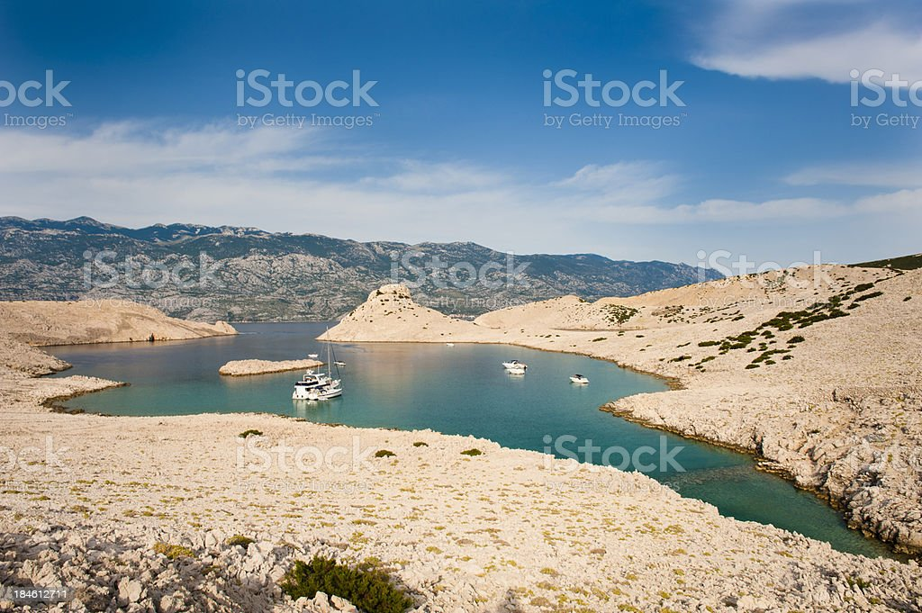 Landscape in Dalmatia stock photo