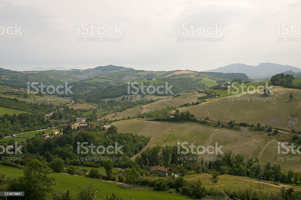 Landscape in Emilia-Romagna (Italy) at summer stock photo