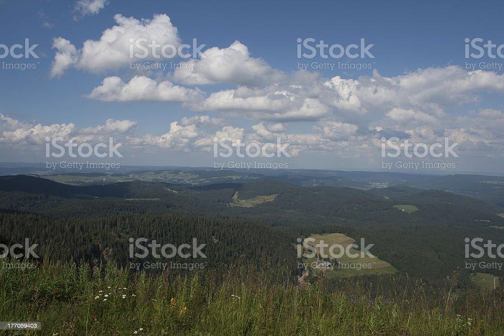 Landscape in Feldberg Germany Black Forest. royalty-free stock photo
