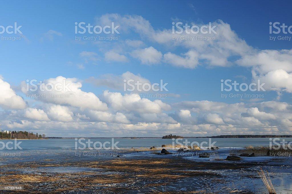 Landscape in Finland stock photo