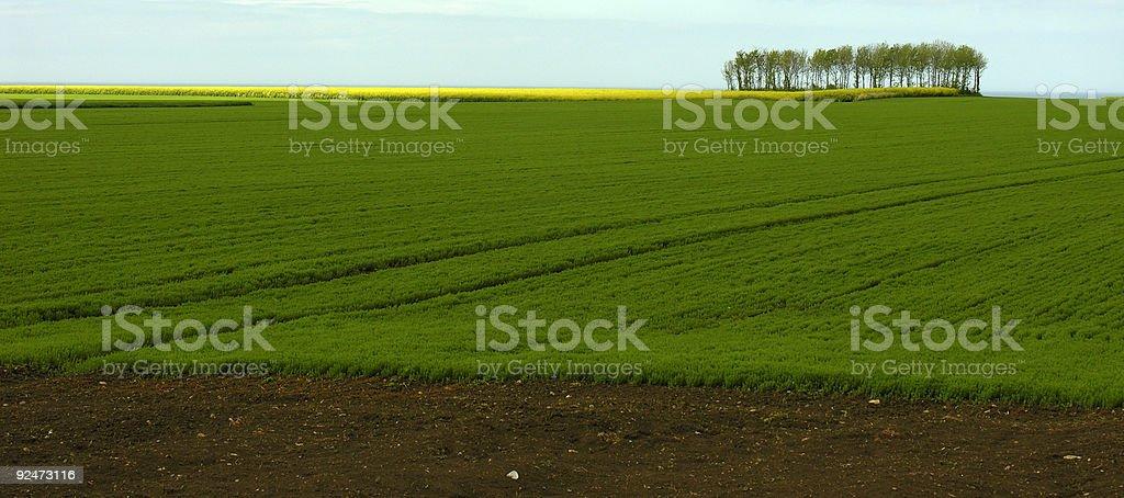 Landscape in France stock photo