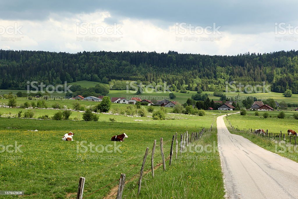 Landscape in Franche Comt? royalty-free stock photo
