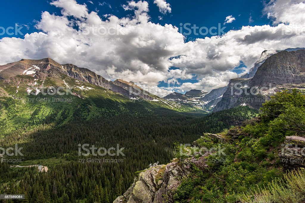 Landscape in Glacier Naitonal Park stock photo