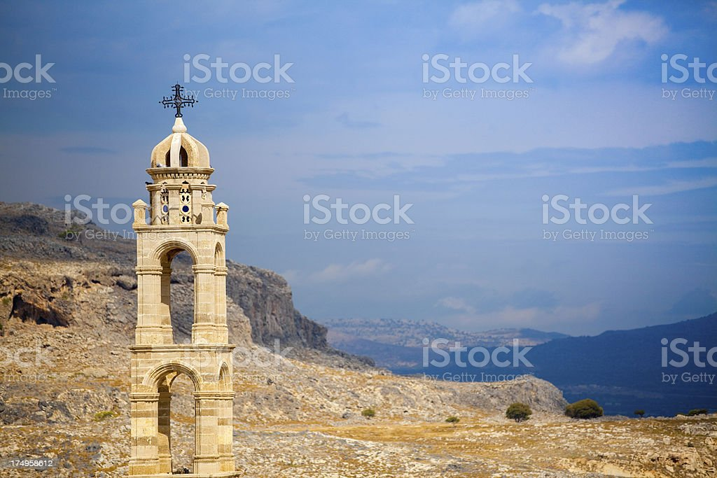 Landscape in Greece royalty-free stock photo