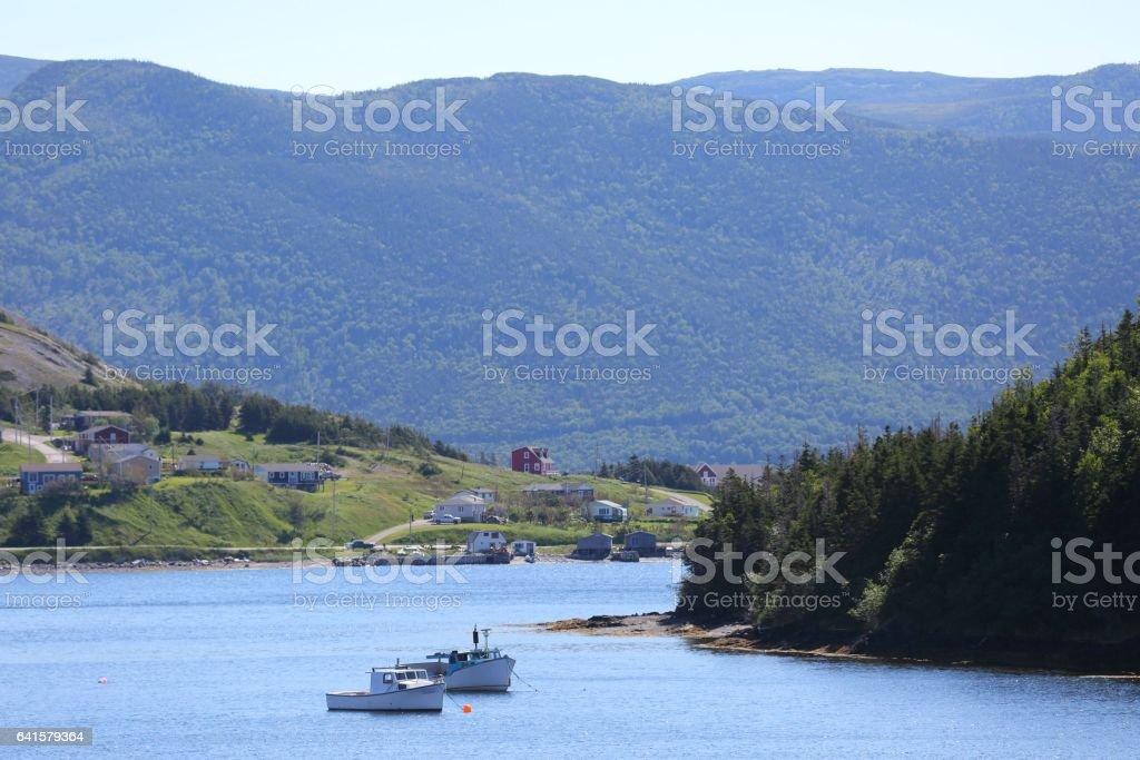 Landscape in Gros Morne, Newfoundland, Canada stock photo