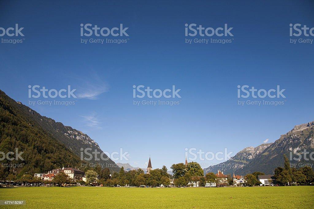 Landscape in Interlaken, Switzerland stock photo