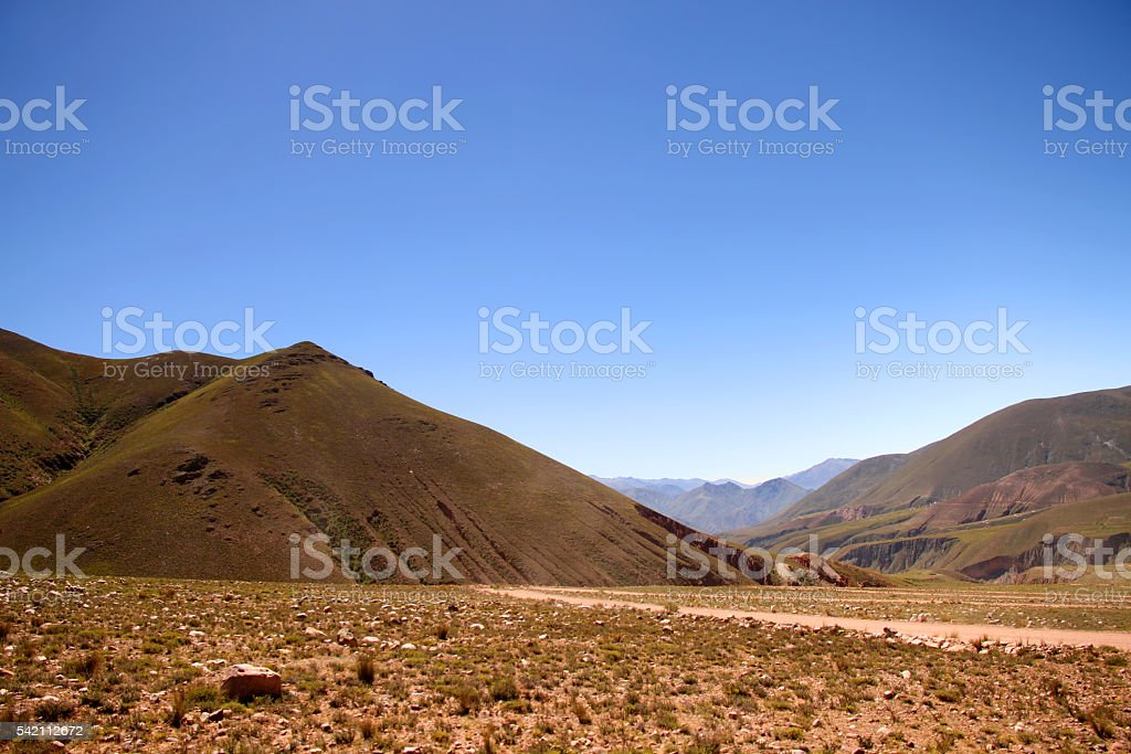 Landscape in Jujuy stock photo