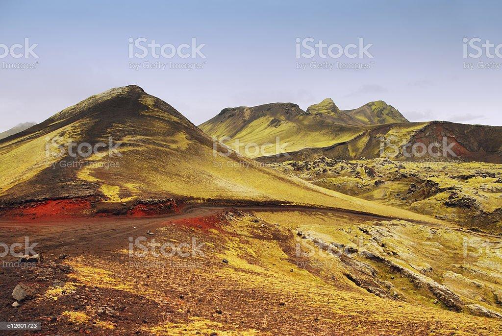 Landscape in Landmannalaugar,Iceland stock photo