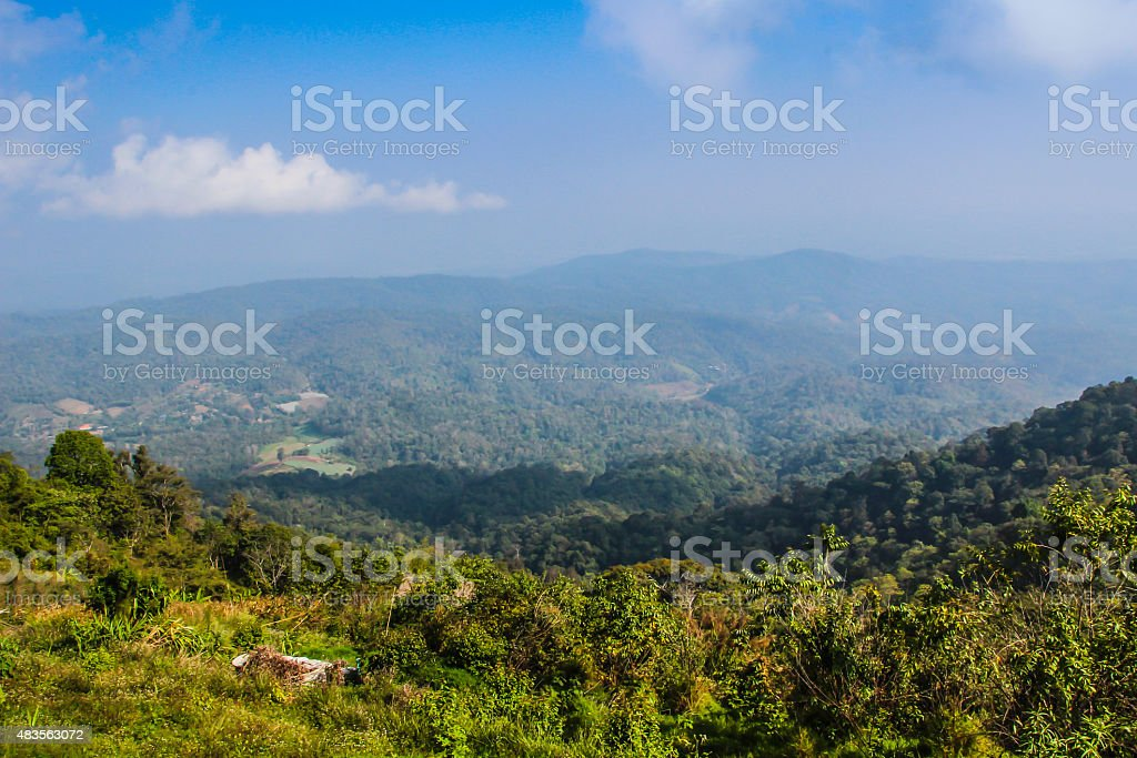 landscape in late summer royalty-free stock photo
